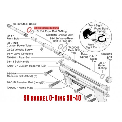 98 & FT12 barrel and Buffer Oring -11708