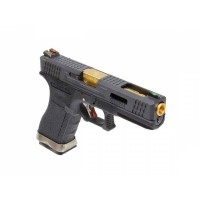 Pistolet WE G18C Gforce T1 Noir Or Noir GBB- Gaz
