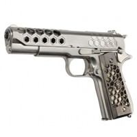 Pistolet WE 1911 HEX CUT GBB Chrome Gaz