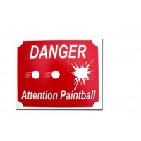 Panneau Danger Attention Paintball
