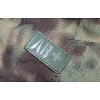 Patch Groupe Sanguin AB+  PVC Velcro -Olive - Emerson
