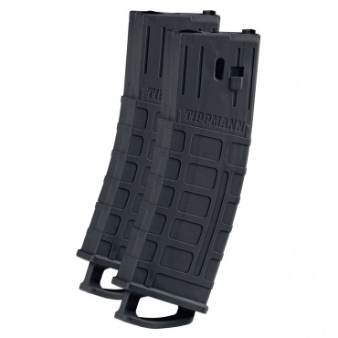 16451 Magazine for TMC Tippmann Magfed - Pack 2- Noir PAINTBALL