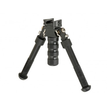Bipied Alu V8 Tripod attache rapide Rail picatinny - Emerson Noir