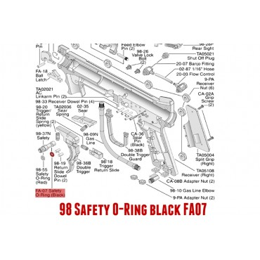 98 Safety O-Ring black TIPPMANN