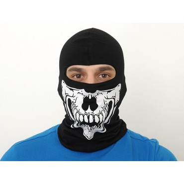 Cagoule Skull Type C Noire Airsoft Paintball