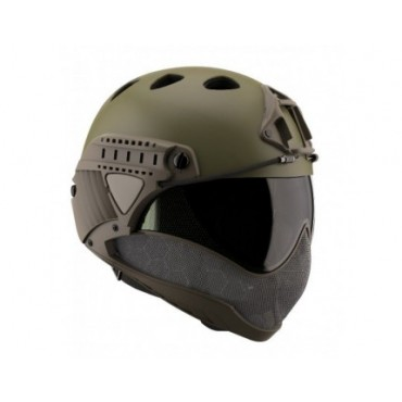 Casque Intégral WARQ Paintball-Airsoft avec Ecran Thermal Kaki Olive airsoft