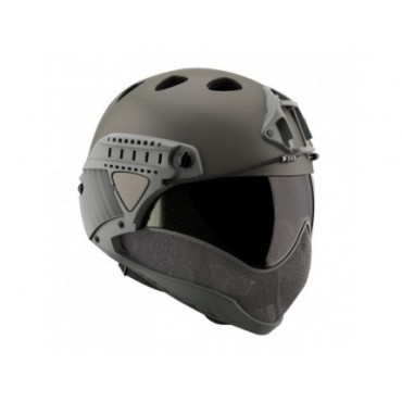 Casque Intégral WARQ Paintball-Airsoft avec Ecran Thermal Gris AIRSOFT PAINTBALL