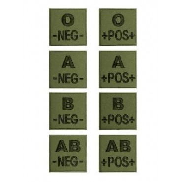 Patch Groupe Sanguin AB NEG - Velcro - FOREST