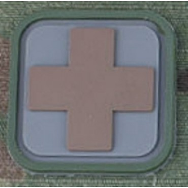Patch Medic Square PVC Velcro -Gris Tan - Emerson