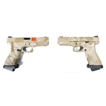 G17 APS CO2 GBB V2 Kryptek Nomad airsoft