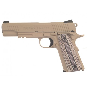 Colt 1911 M45A1 TAN culasse metal Blowback - CO2- KWC