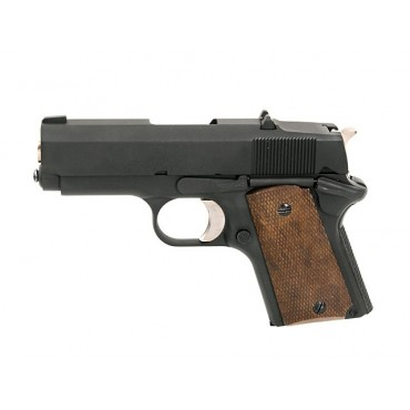 Pistolet Army 1911 Detonics Compact R45 Full metal Black -GBB