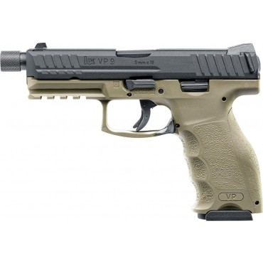 Pistolet H&K VP9 tactical gaz Blowback- TAN VFC