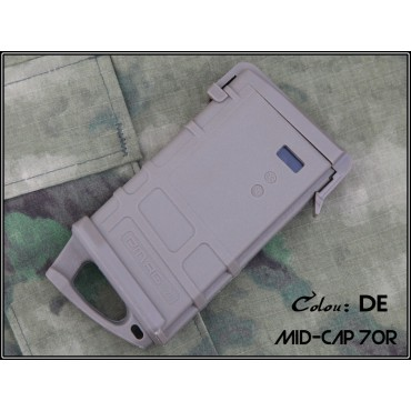 Chargeur AEG M4 Type PMAG 70 Mid Cap - Tan airsoft