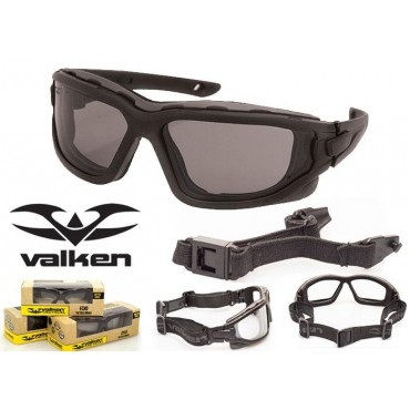 Lunette CE de protection Vtac Echo Smoke Valken airsoft