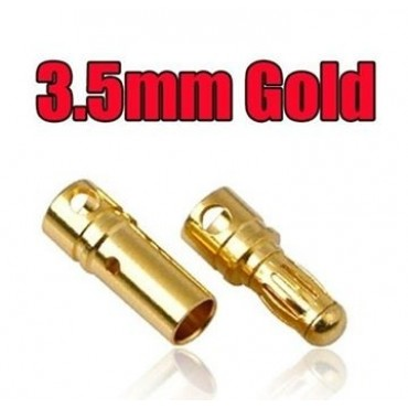Connecteur A2 3.5 Gold - Pack 4 airsoft