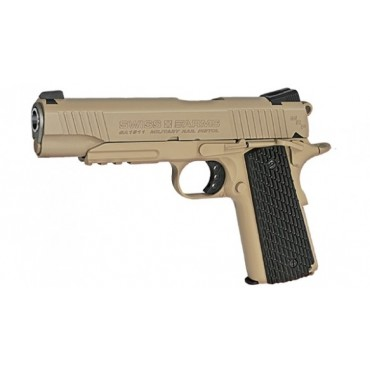 Pistolet 4.5mm 1911 military rail full metal Blowback- CO2 - KWC