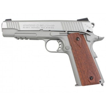 288508 Pistolet 4.5mm 1911 Tactical rail Stainless Blowback- CO2 - KWC