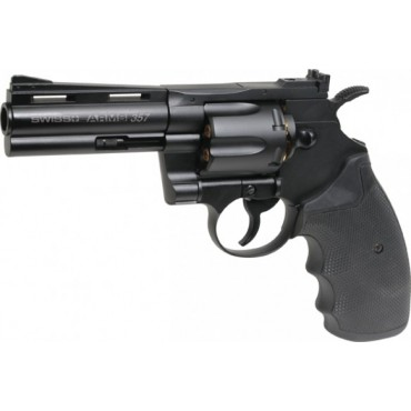 Revolver 4.5mm KWC Swiss Arms Python 357-4'' Full métal Noir - CO2