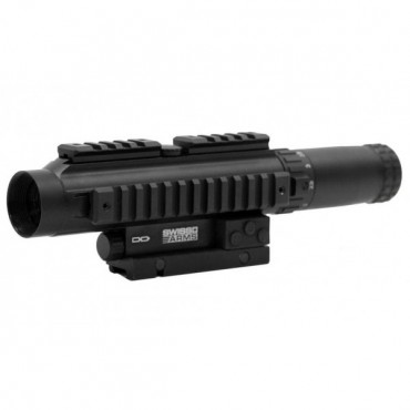 Lunette Sniper 1-4 X20 Multi rail - Reticule luminescent  - Swiss Arms