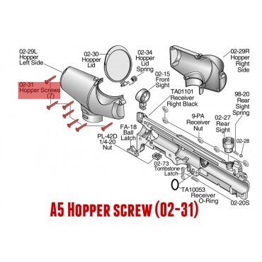 TIPPMANN A5 Hopper screw
