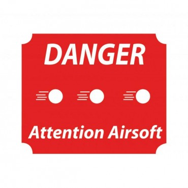 Panneau Danger Attention Airsoft