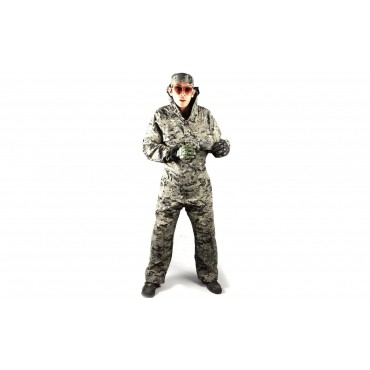 Combinaison Paintball Location digital camo noir vert taille L