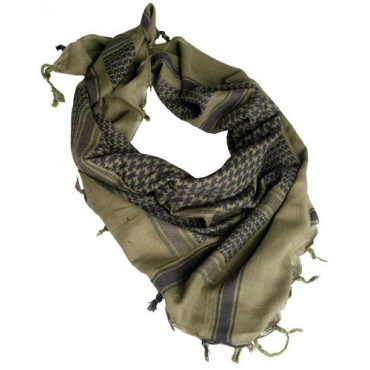 Echarpe Shemagh 110*110 cm Olive / Noire