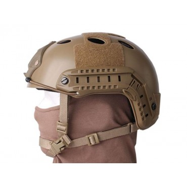 Casque tactique Emerson FAST PJ Molette- Dark Earth