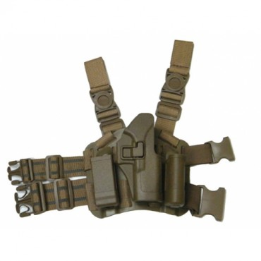 Holster Cuisse CQC Rigide - Glock - droitier -TAN 7043TANGLOCK