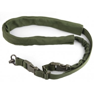 Sangle Tactique 1 Point Olive  fixation QD - Emerson