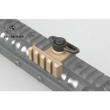 Attache Sangle pour Rail BD OP style avec rail supplementaire Tan